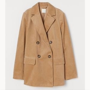 H&M corduroy BNWOT tan camel blazer